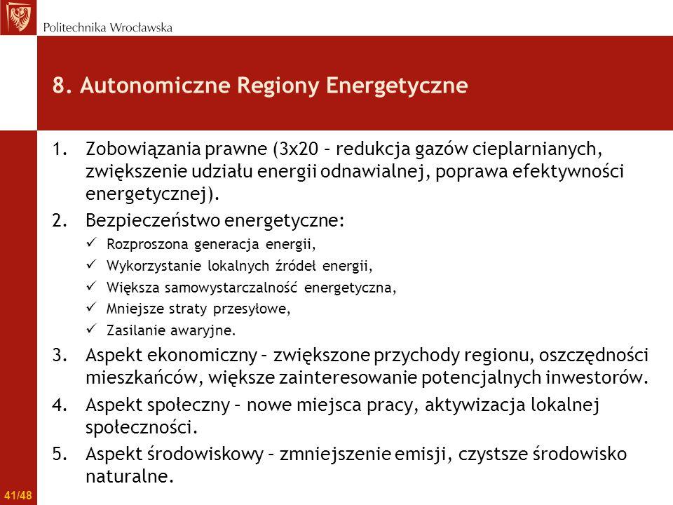 8. Autonomiczne Regiony Energetyczne
