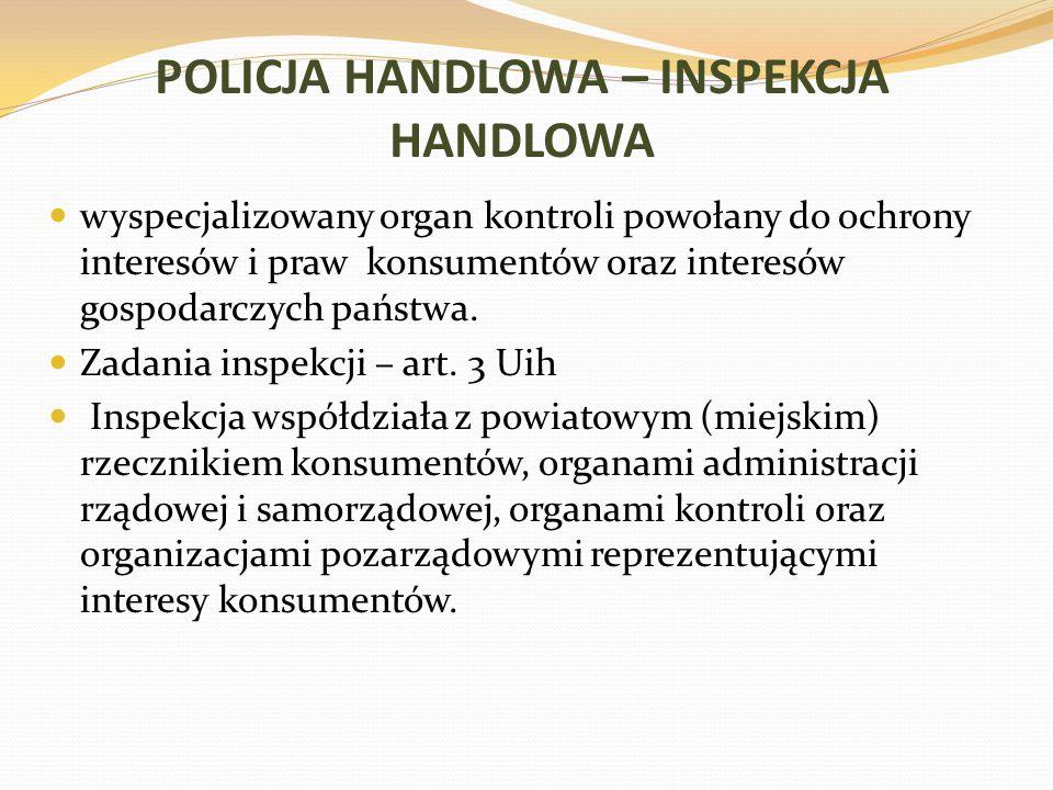 POLICJA HANDLOWA – INSPEKCJA HANDLOWA