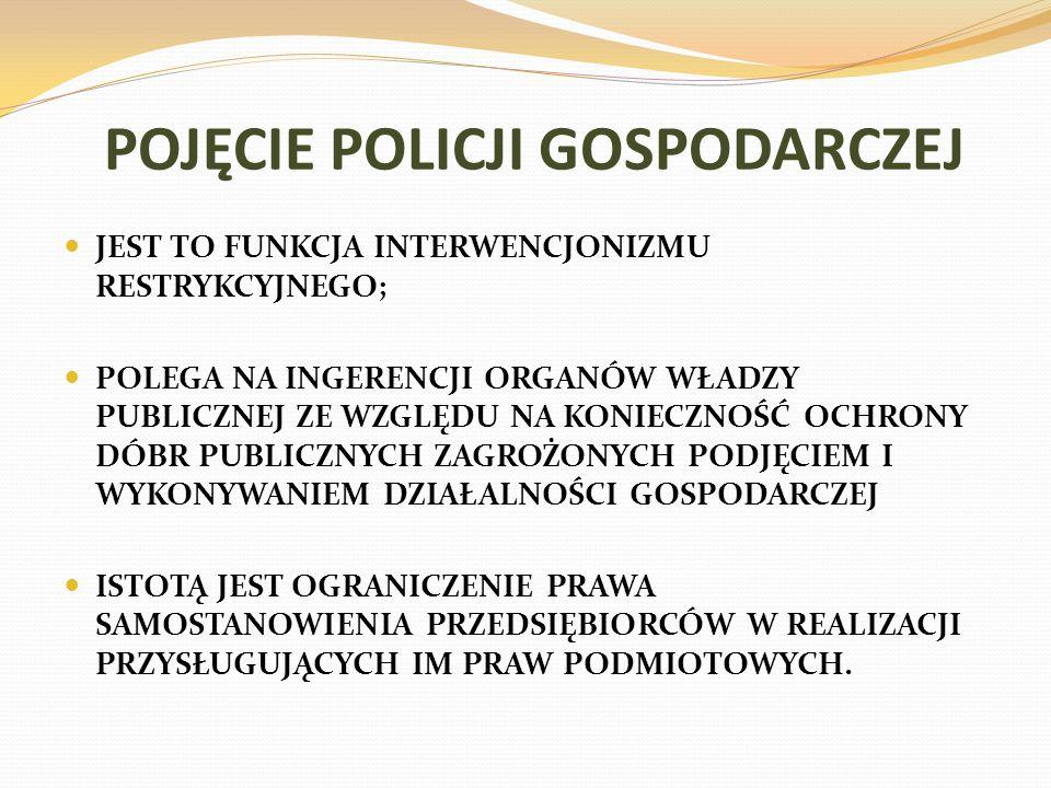 POJĘCIE POLICJI GOSPODARCZEJ