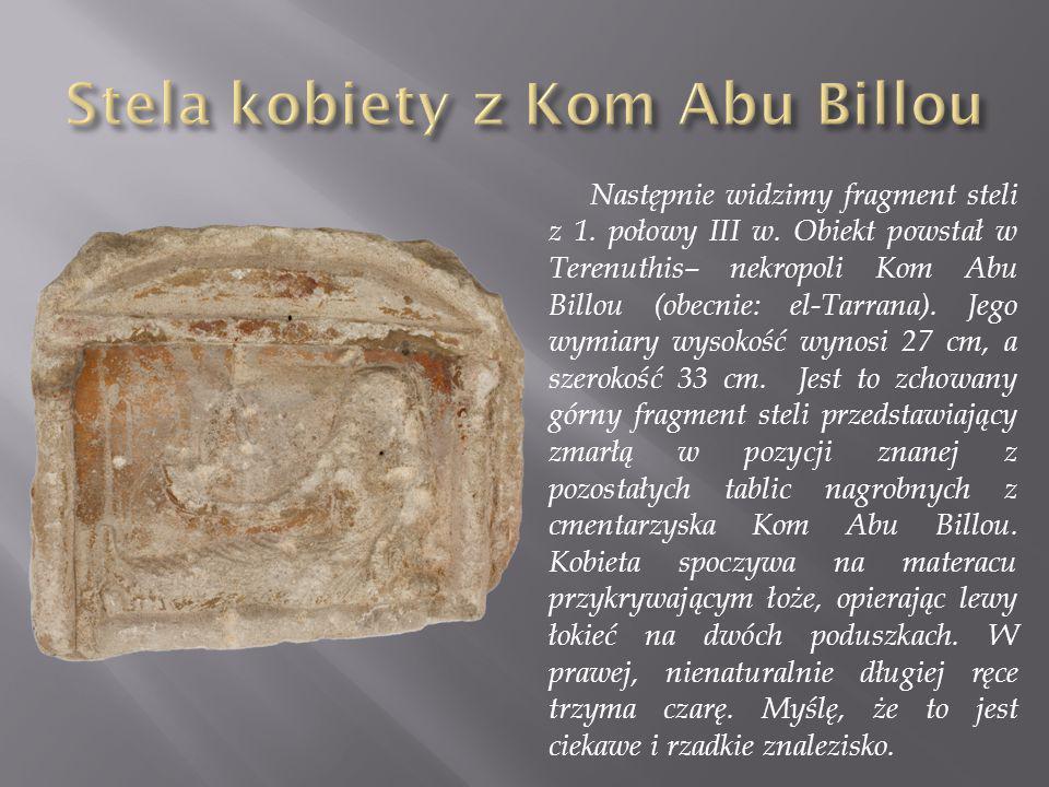 Stela kobiety z Kom Abu Billou