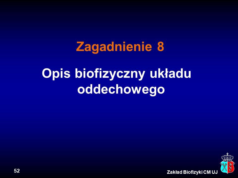 Opis biofizyczny układu oddechowego