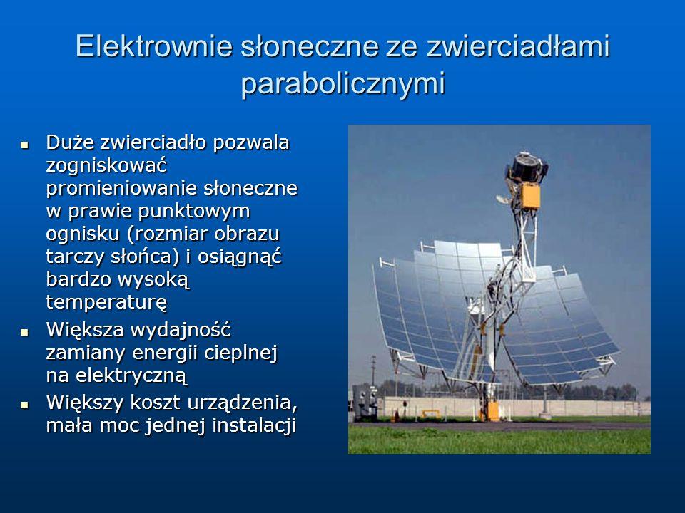 Elektrownie słoneczne ze zwierciadłami parabolicznymi