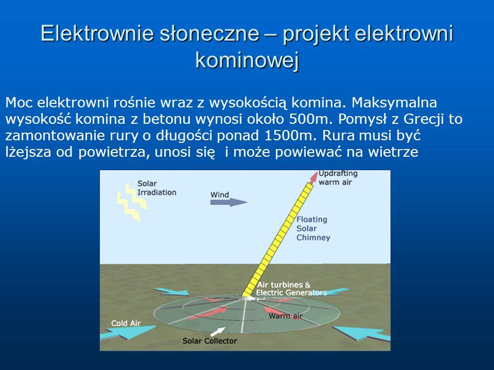 Elektrownie słoneczne – projekt elektrowni kominowej
