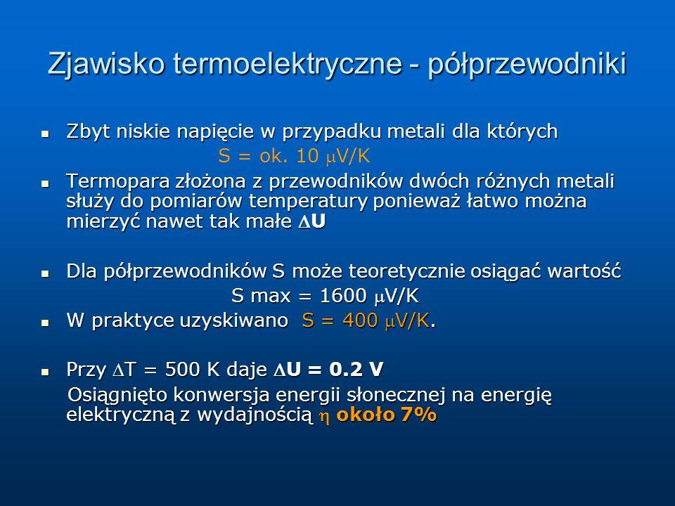 Zjawisko termoelektryczne - półprzewodniki