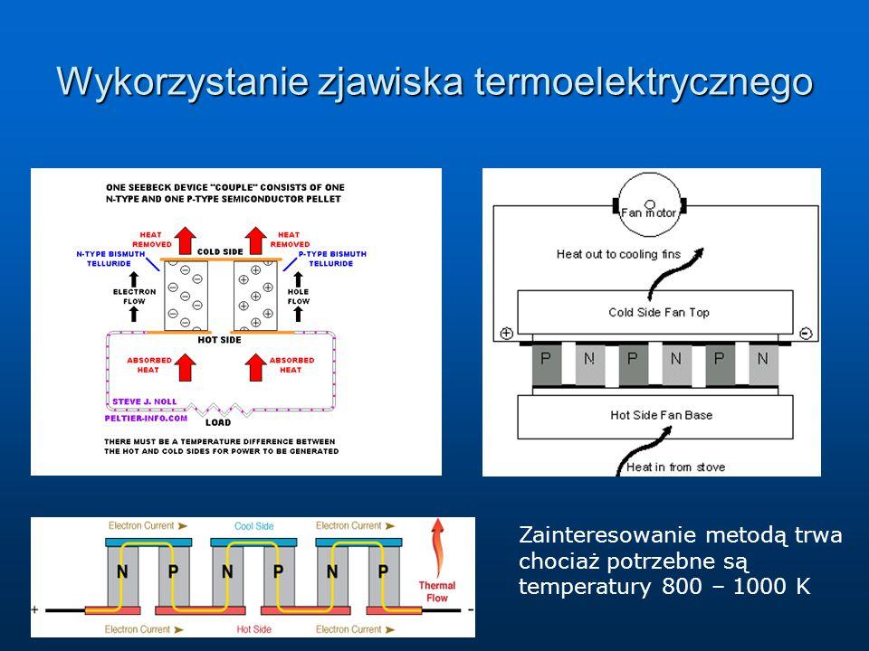 Wykorzystanie zjawiska termoelektrycznego