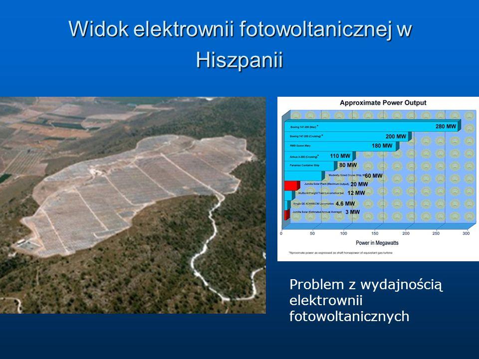 Widok elektrownii fotowoltanicznej w Hiszpanii