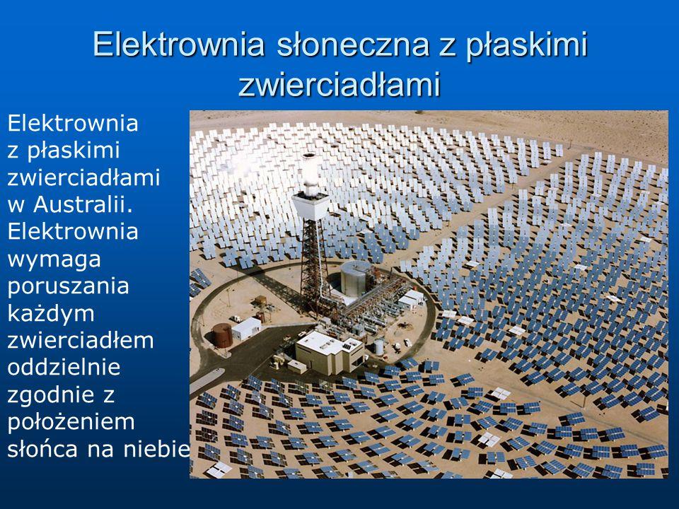 Elektrownia słoneczna z płaskimi zwierciadłami