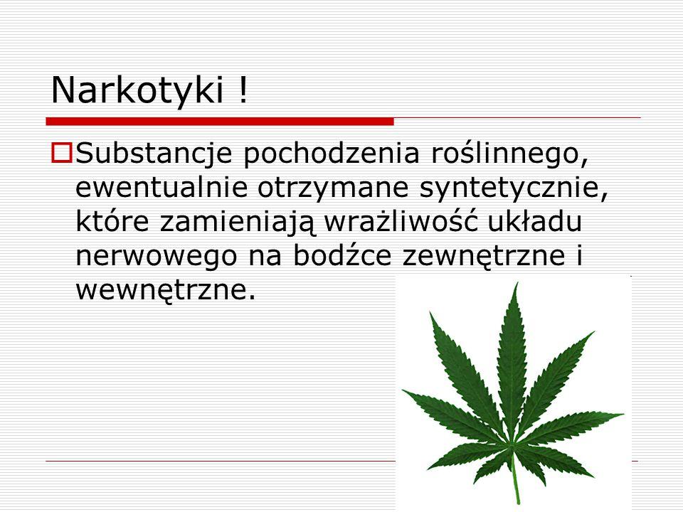 Narkotyki !