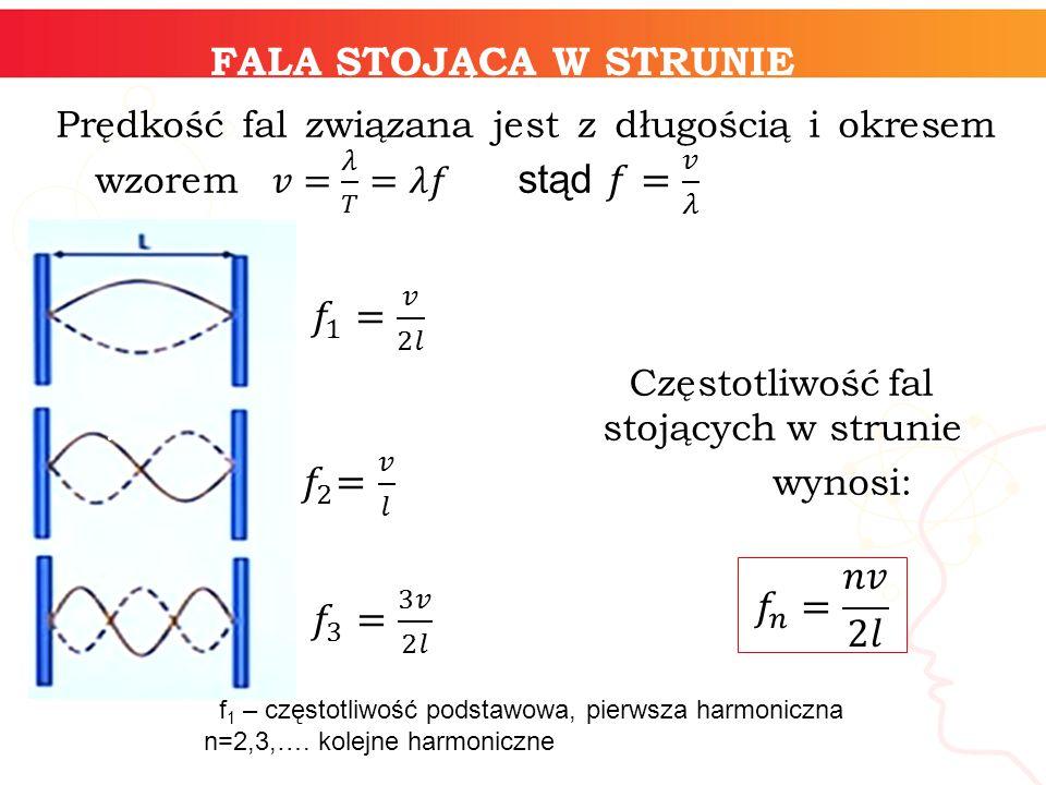 f1 – częstotliwość podstawowa, pierwsza harmoniczna