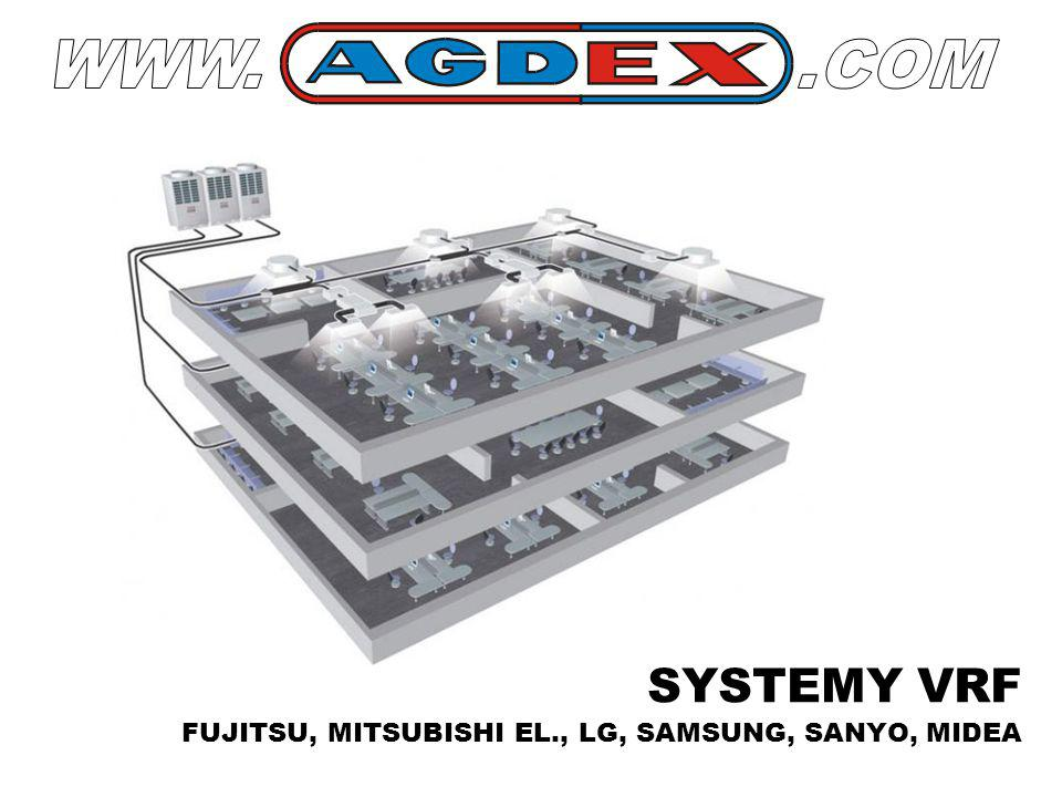 WWW. .COM SYSTEMY VRF FUJITSU, MITSUBISHI EL., LG, SAMSUNG, SANYO, MIDEA