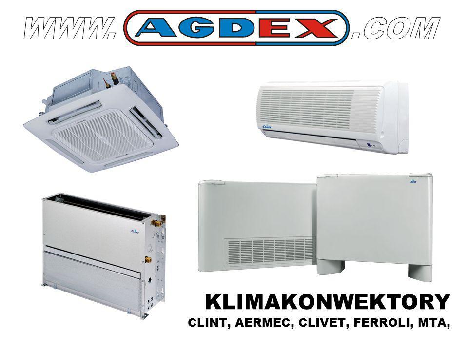 WWW. .COM KLIMAKONWEKTORY CLINT, AERMEC, CLIVET, FERROLI, MTA,