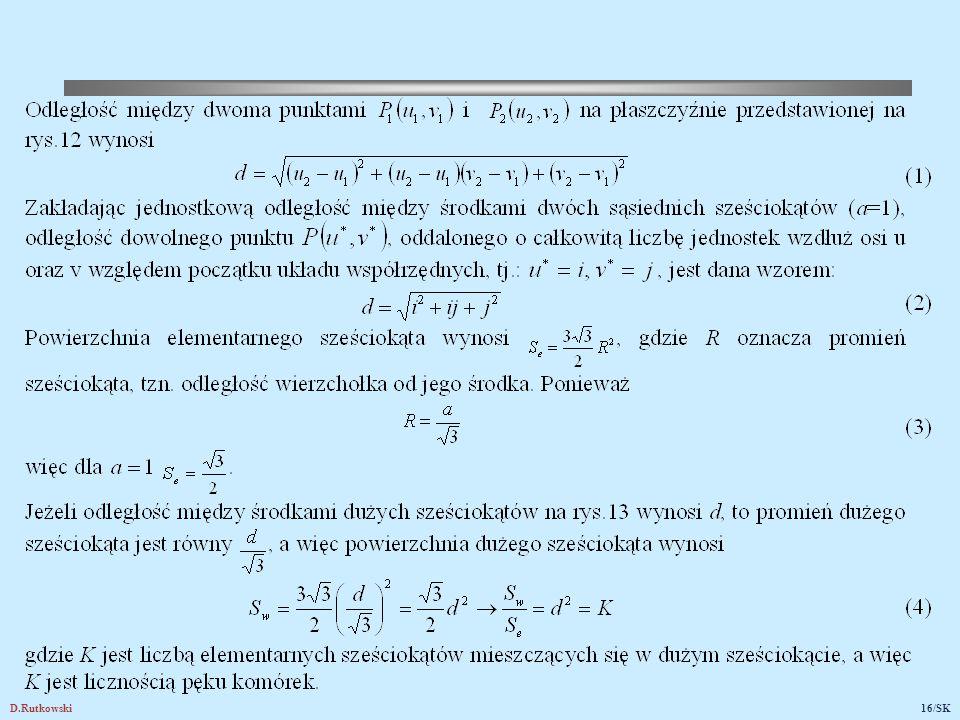 Rys.13. Przykład wyznaczania komórek współkanałowych oraz liczby komórek w pęku (i=3, j=2)