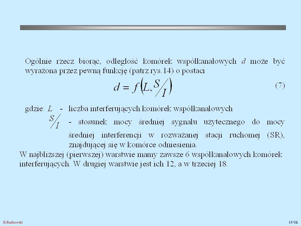 Rys.14. Komórki wnoszące interferencje współkanałowe do centralnej komórki 1