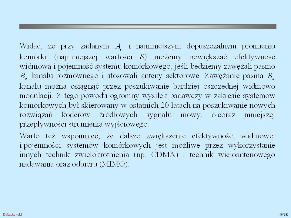 6. Właściwości kanału radiowego w systemie komórkowym