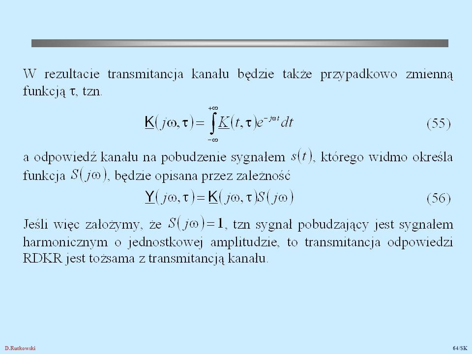 6.5. Krótkookresowy rozkład amplitudy sygnału odbieranego