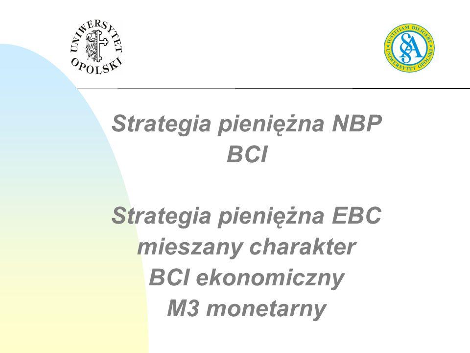Strategia pieniężna NBP Strategia pieniężna EBC
