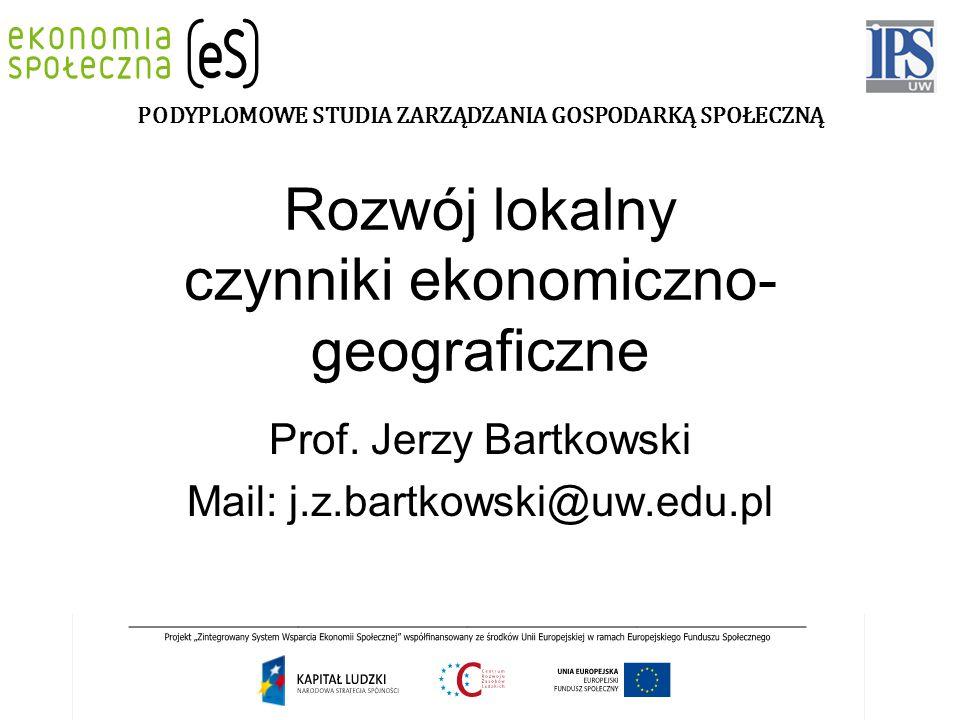 Rozwój lokalny czynniki ekonomiczno-geograficzne