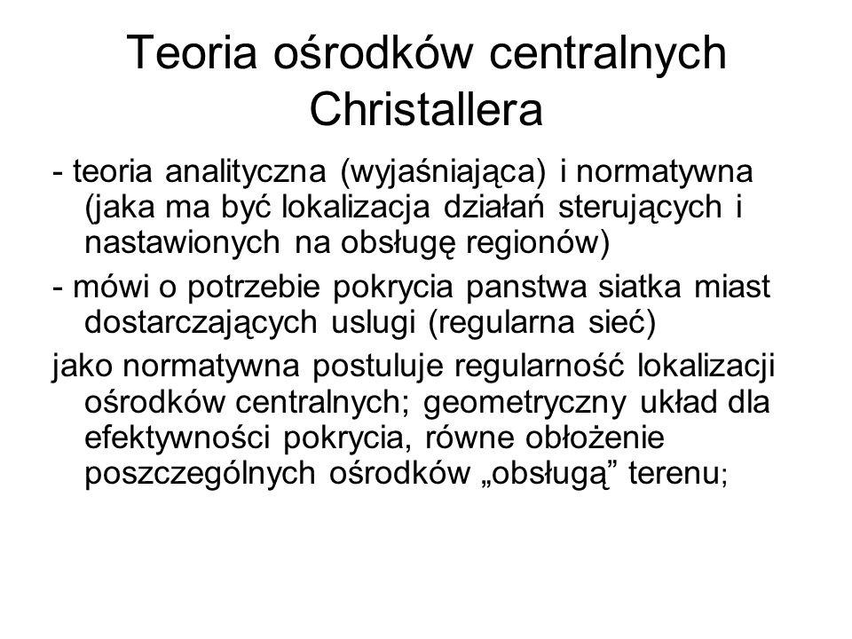 Teoria ośrodków centralnych Christallera