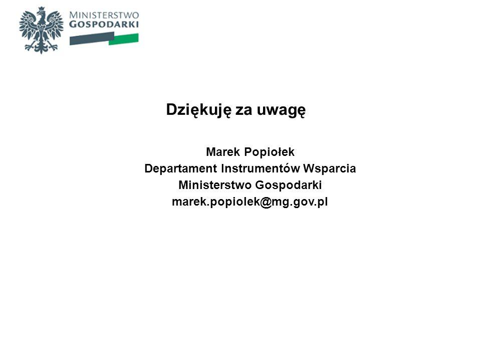 Departament Instrumentów Wsparcia Ministerstwo Gospodarki