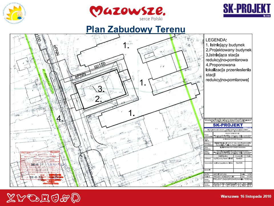 Plan Zabudowy Terenu Warszawa 16 listopada 2010
