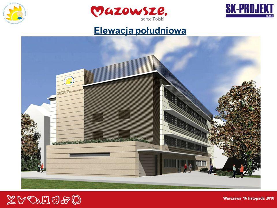 Elewacja południowa Warszawa 16 listopada 2010