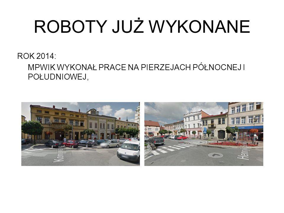 ROBOTY JUŻ WYKONANE ROK 2014: