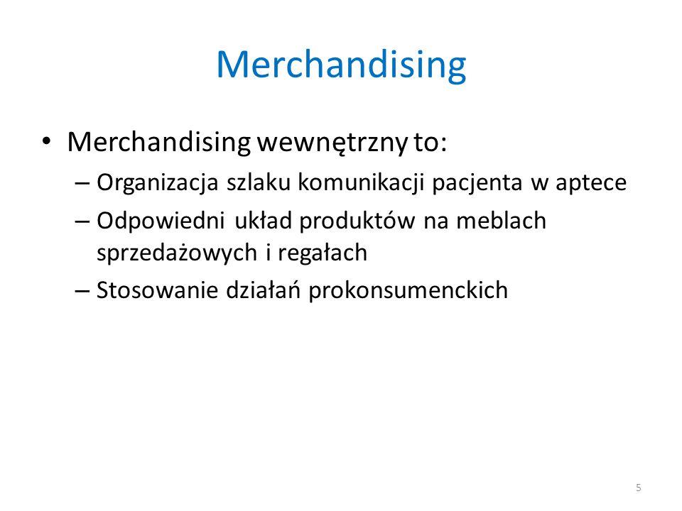 Merchandising Merchandising wewnętrzny to: