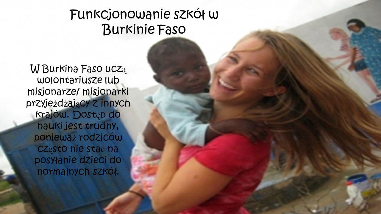 Funkcjonowanie szkół w Burkinie Faso