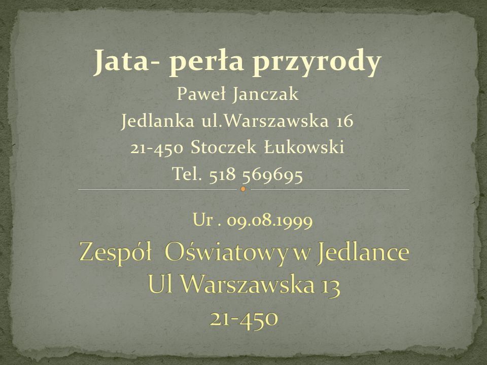 Zespół Oświatowy w Jedlance Ul Warszawska 13 21-450