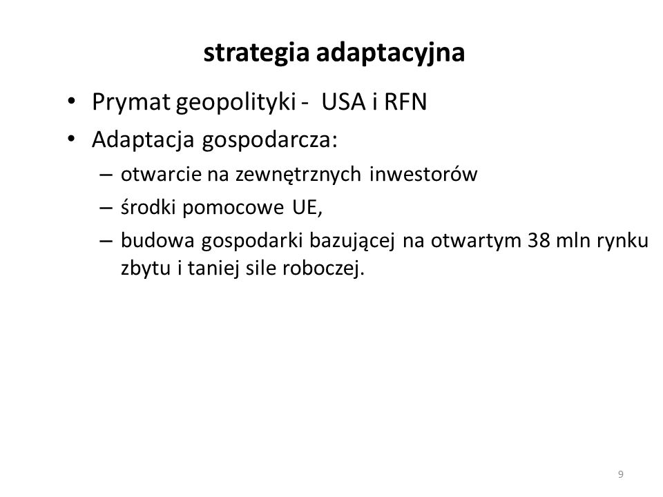 strategia adaptacyjna