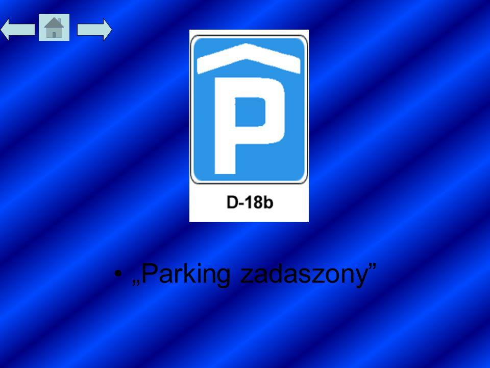 """""""Parking zadaszony"""