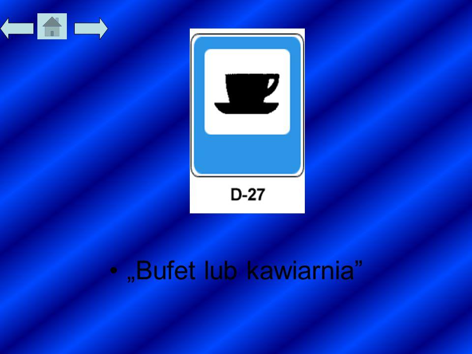 """""""Bufet lub kawiarnia"""