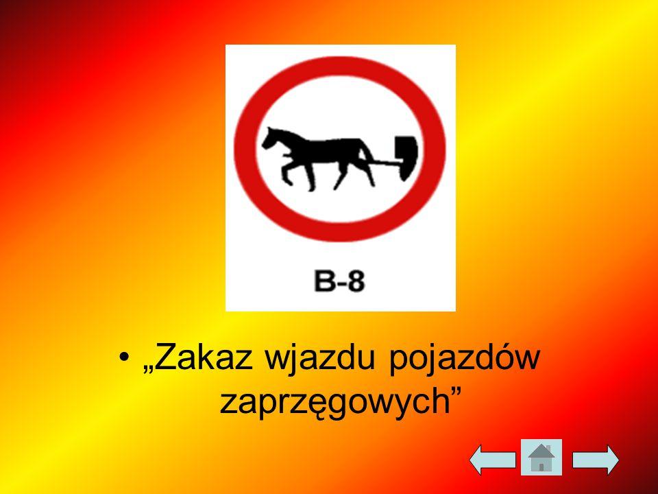 """""""Zakaz wjazdu pojazdów zaprzęgowych"""