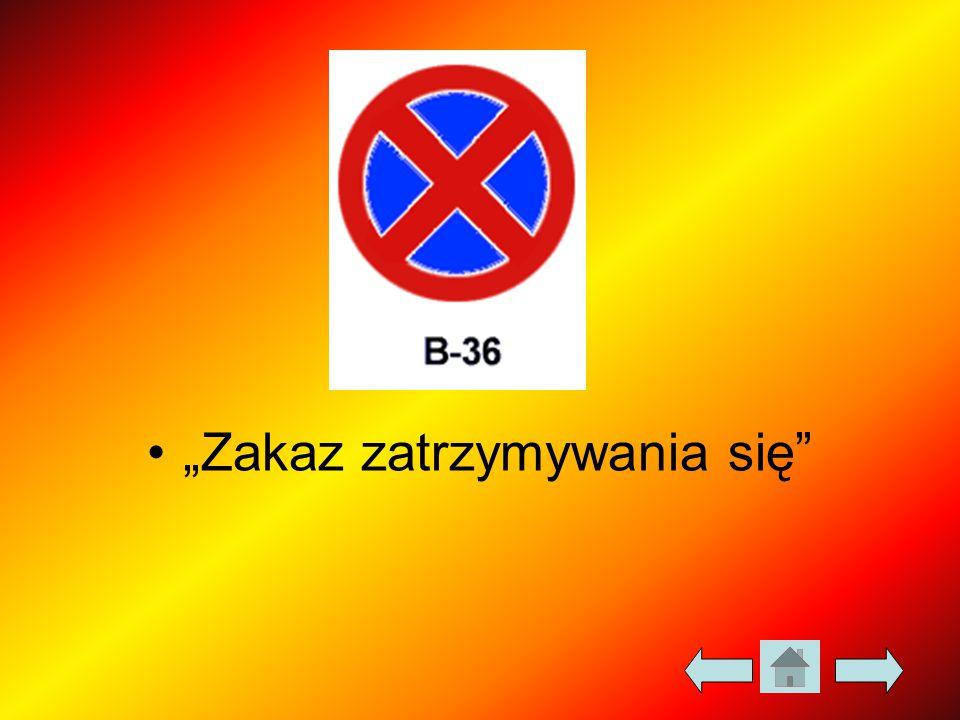 """""""Zakaz zatrzymywania się"""