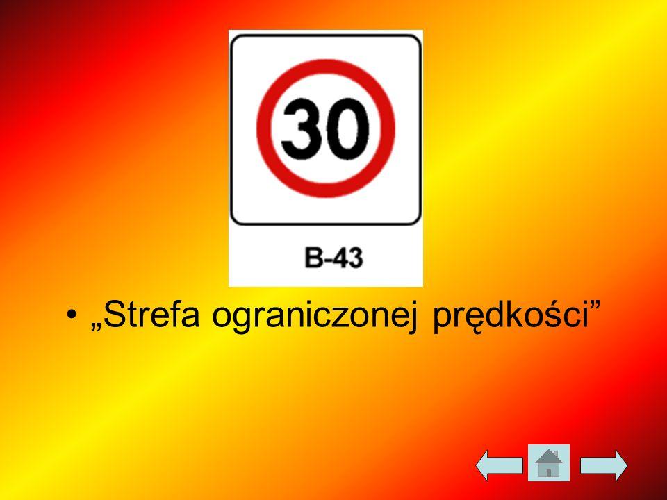 """""""Strefa ograniczonej prędkości"""