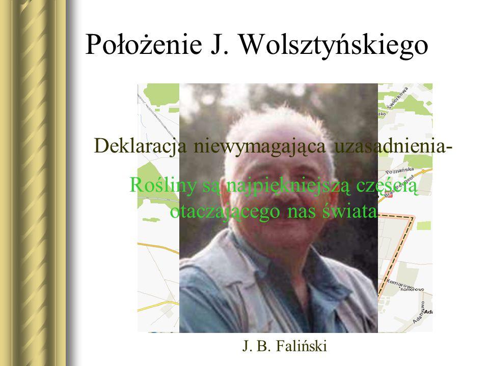 Położenie J. Wolsztyńskiego