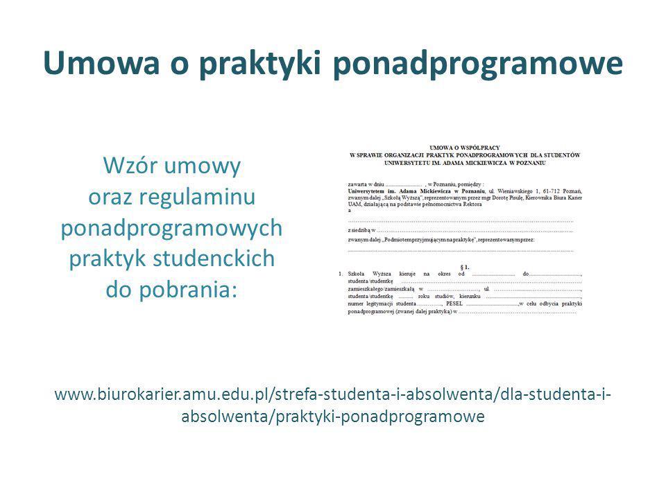 Umowa o praktyki ponadprogramowe