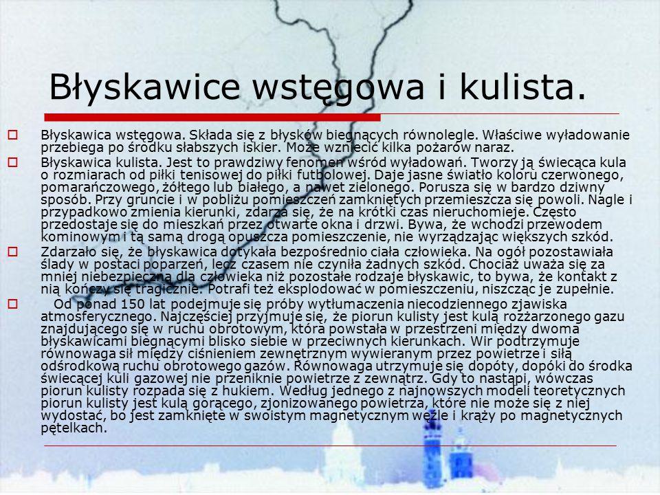 Błyskawice wstęgowa i kulista.