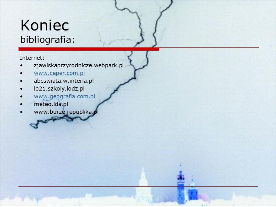 Koniec bibliografia: Internet: zjawiskaprzyrodnicze.webpark.pl