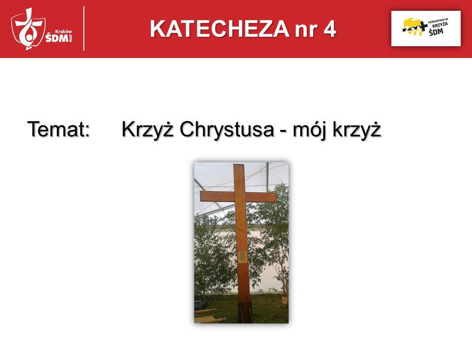 KATECHEZA nr 4 Temat: Krzyż Chrystusa - mój krzyż
