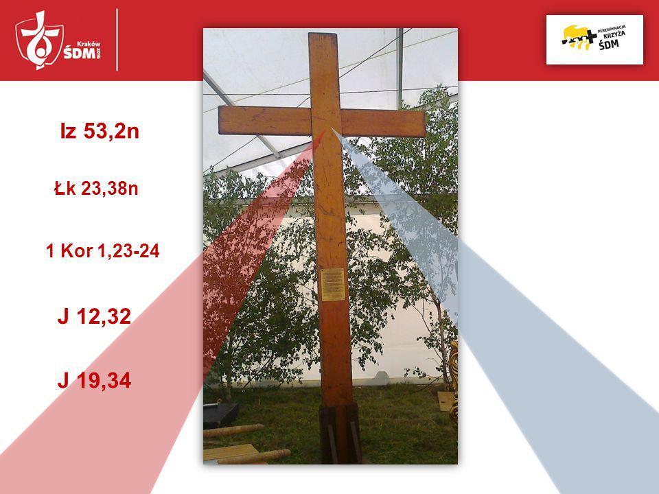 Iz 53,2n Łk 23,38n 1 Kor 1,23-24 J 12,32 J 19,34