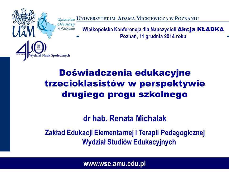 Wielkopolska Konferencja dla Nauczycieli Akcja KŁADKA