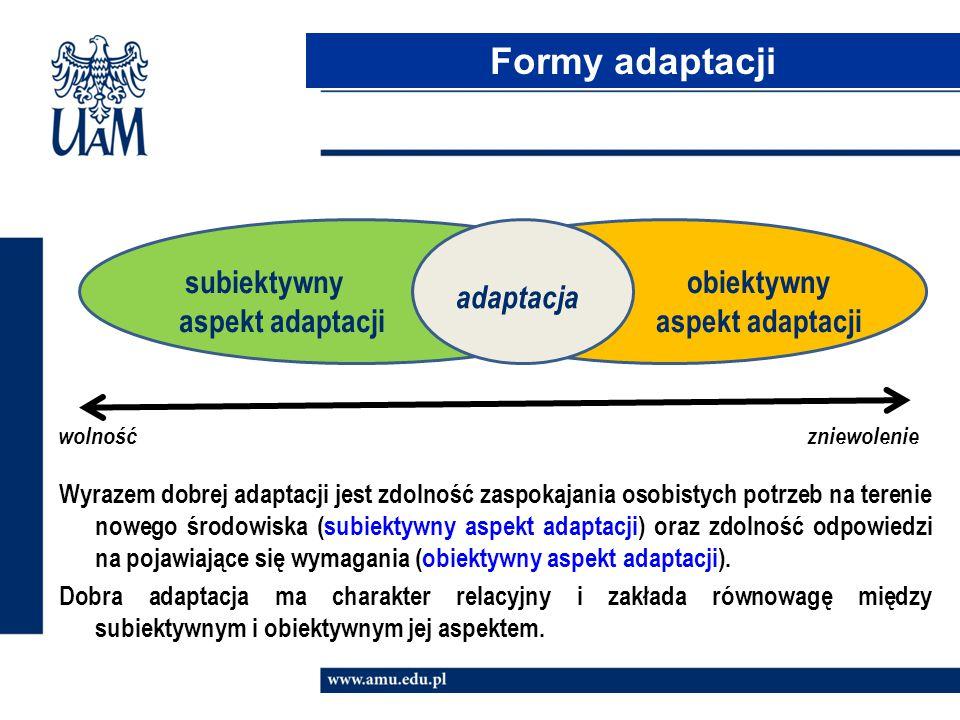 subiektywny aspekt adaptacji