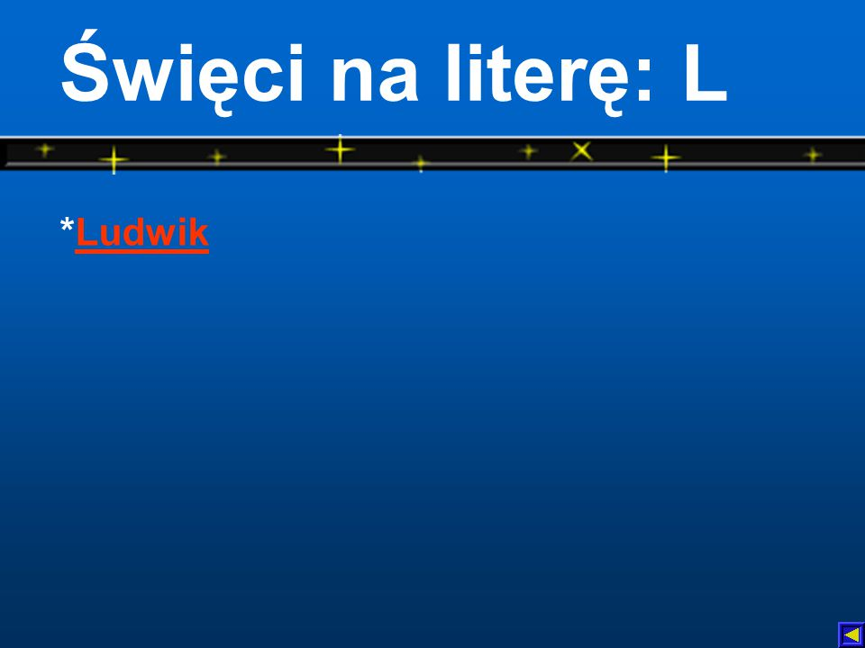 Święci na literę: L *Ludwik