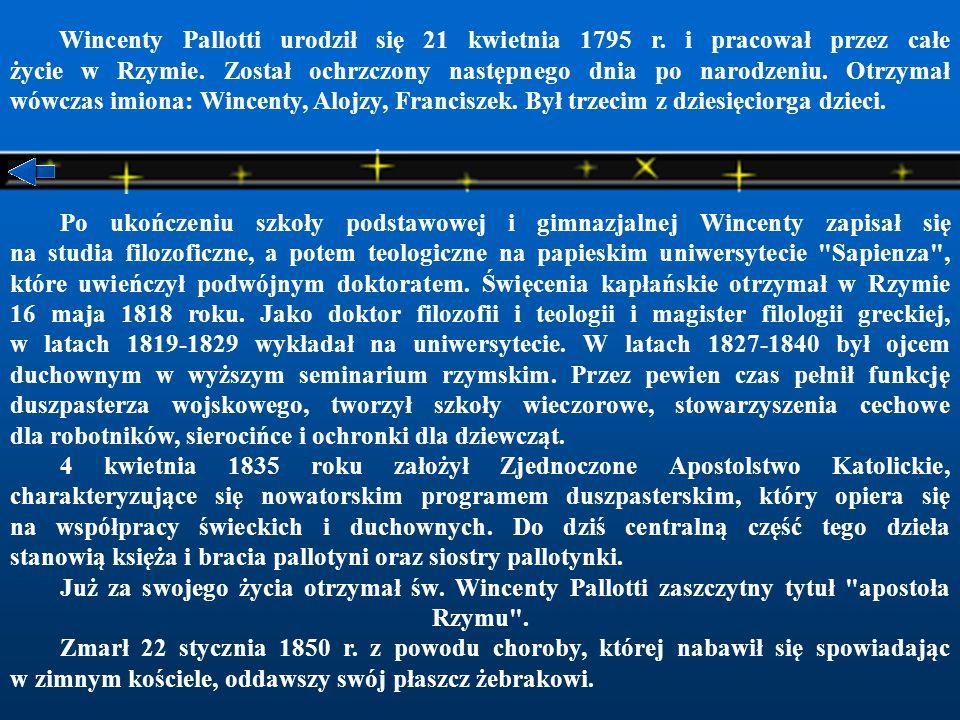 Wincenty Pallotti urodził się 21 kwietnia 1795 r
