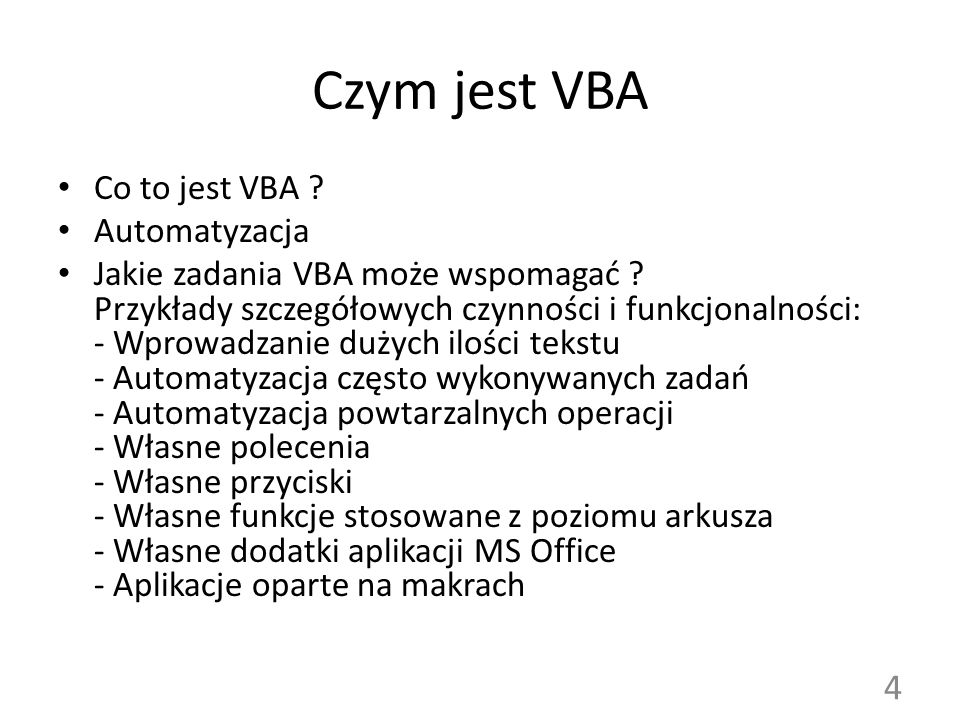 Czym jest VBA Co to jest VBA Automatyzacja