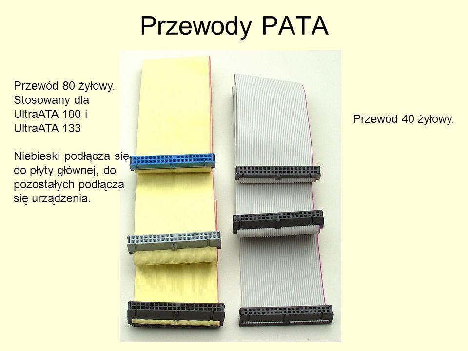 Przewody PATA Przewód 80 żyłowy. Stosowany dla