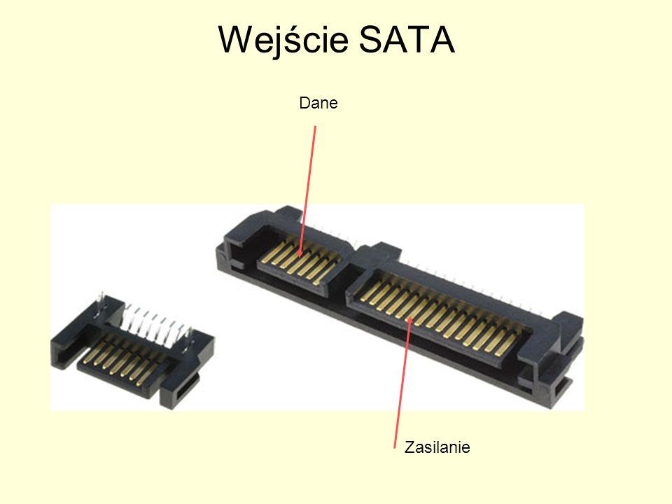 Wejście SATA Dane Zasilanie