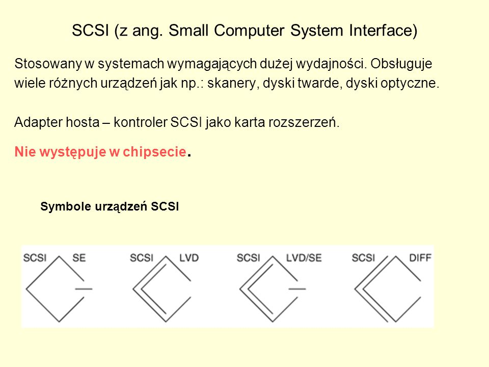 SCSI (z ang. Small Computer System Interface)