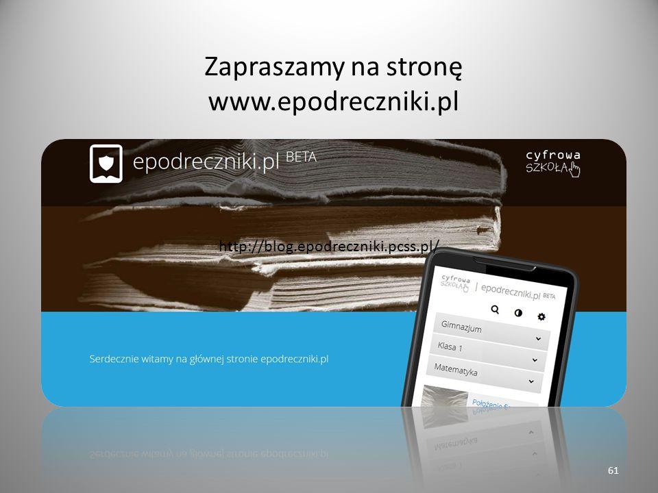 Zapraszamy na stronę www.epodreczniki.pl